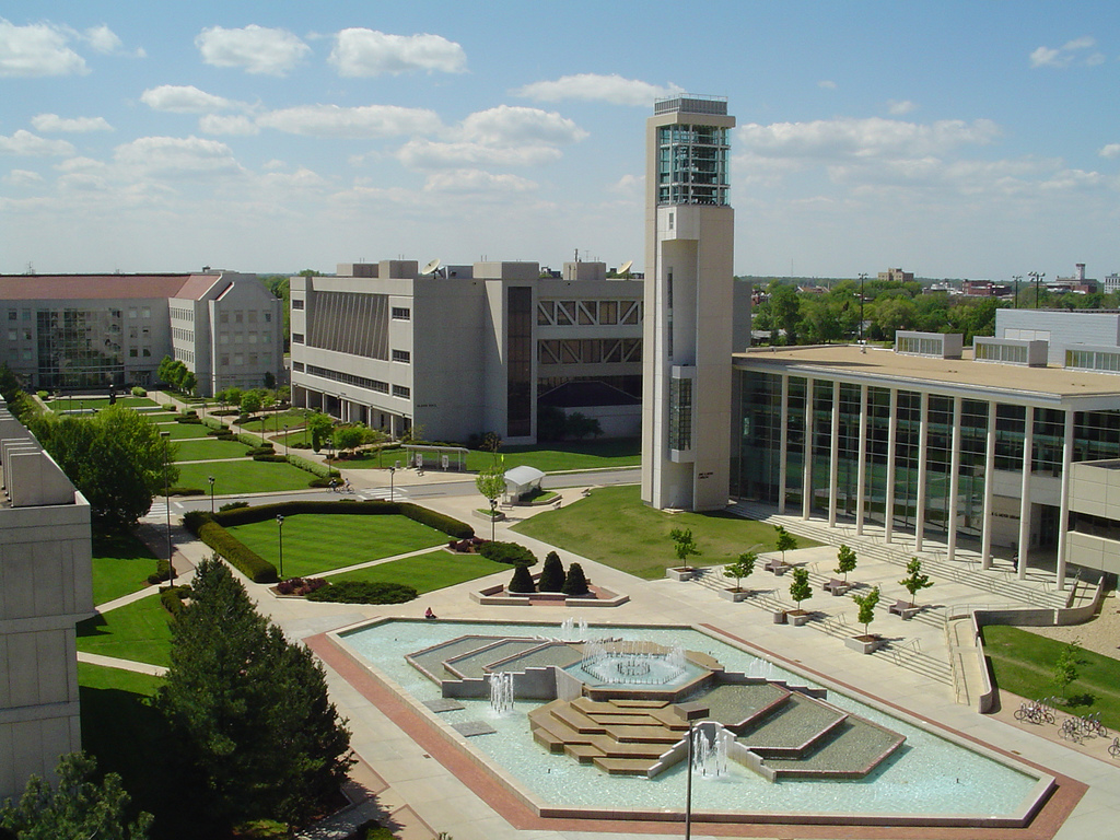 An aerial view of Missouri State University