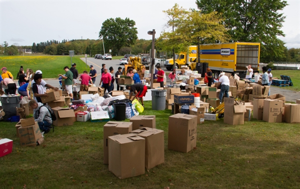 Students and Community Come Together to Help Hurricane Victims