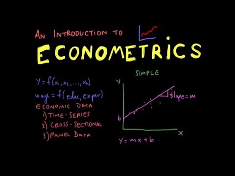 econometrics introductory slide with graph