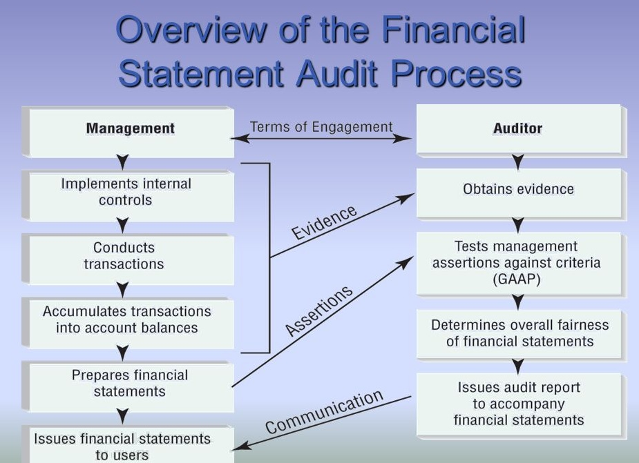 A simple illustration of the Financial Audit Process