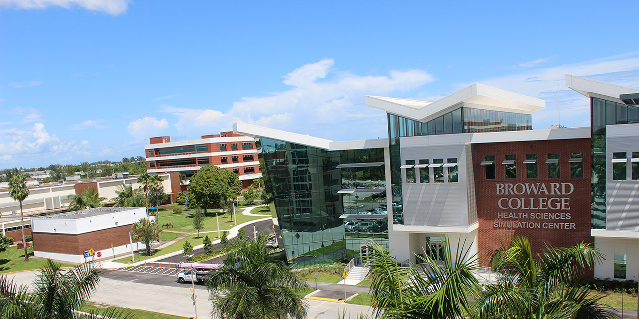 An aerial view of Broward College