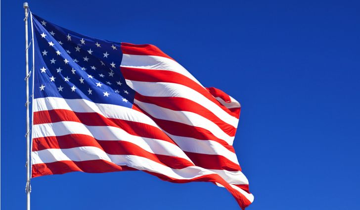 The picture of American flag