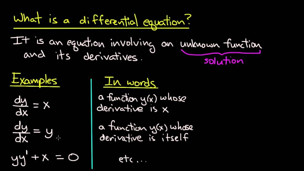 An example of Ordinary Differential Equations