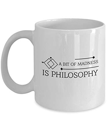 An image showing the Philosophy of Madness on a mug