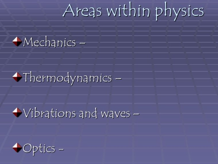 This course involves three main branches of physics