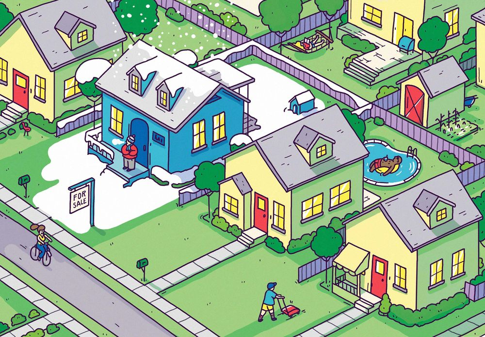 Cartoon picture of Residential Real Estate