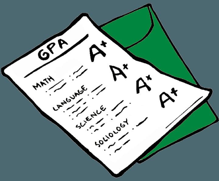 GPA on report card cartoon