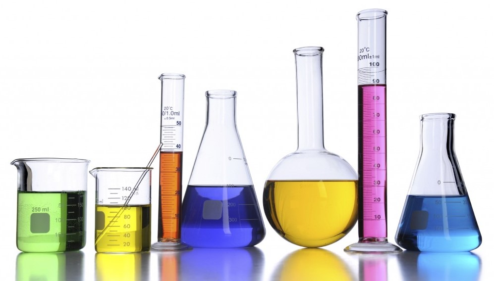 Picture of chemistry lab apparatus