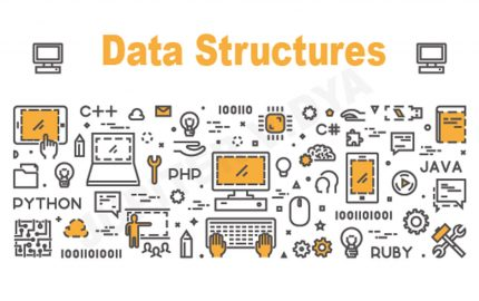 a cartoon showing different aspects of data structures