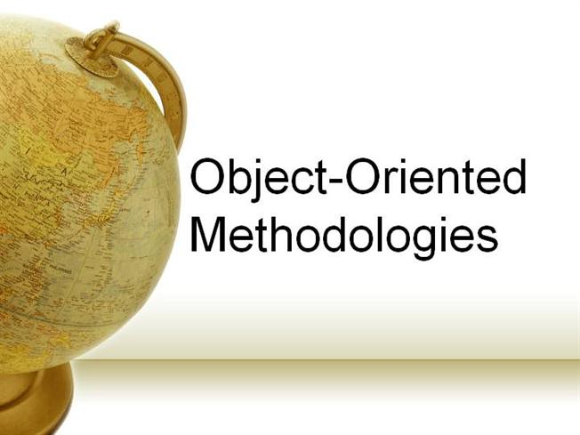 """A picture of the globe written """"Object-Oriented Methods?"""""""