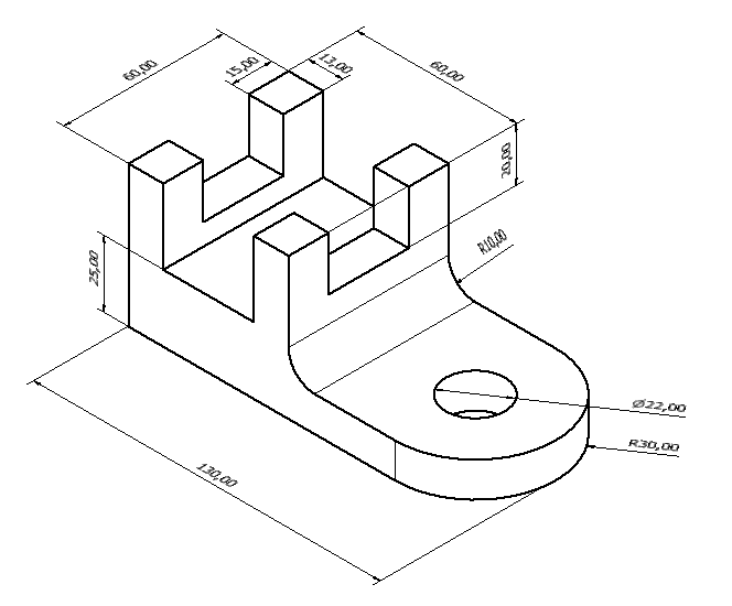 Picture of a design with dimensions