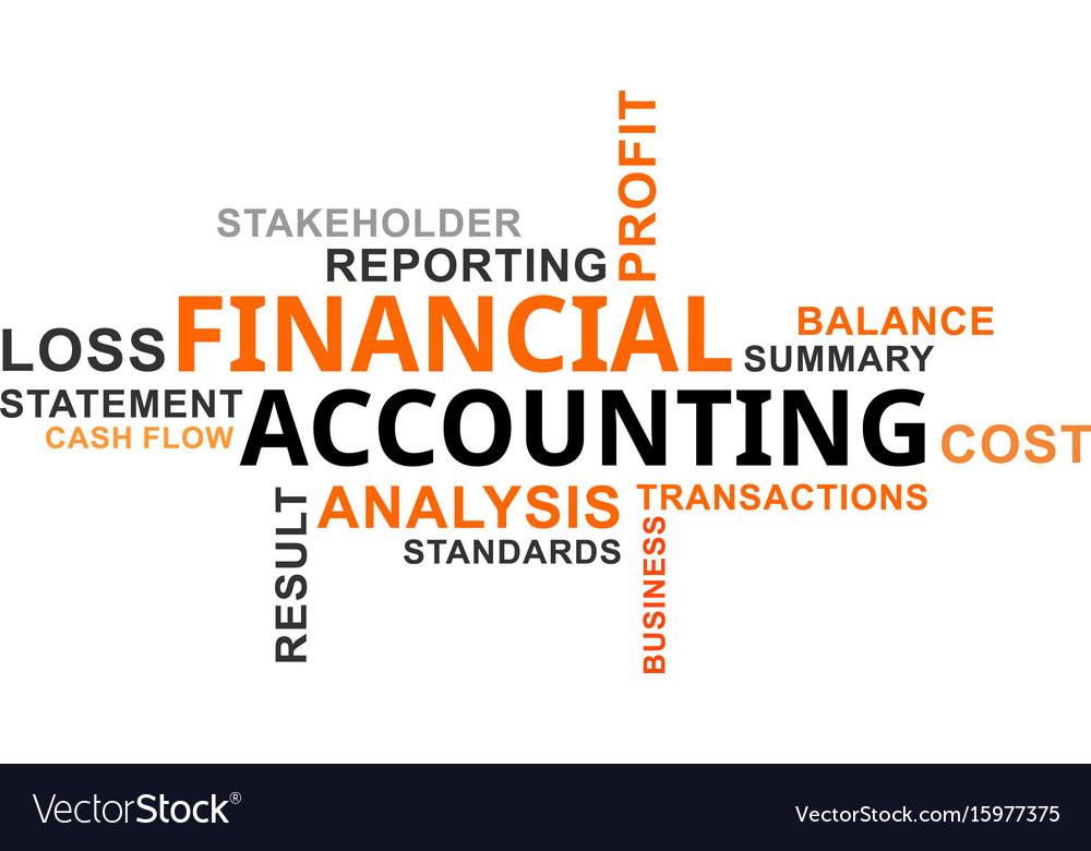 word cloud of financial accounting related terms