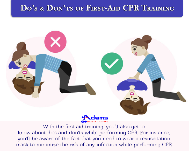 Do's-Don'ts-of-First-Aid-CPR-Training shown in a cartoon image