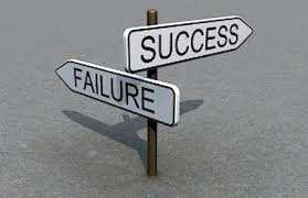 sign boards showing success and failure