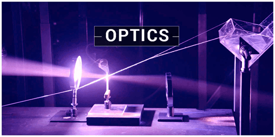 An image of an optics representation using a candle and a prism