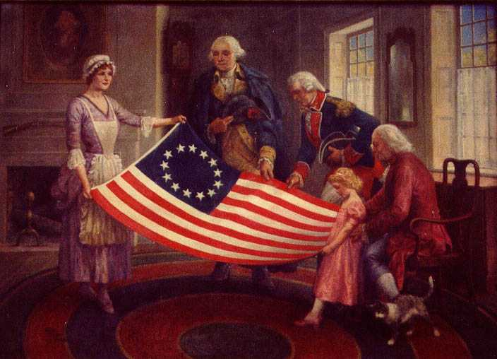Historical painting of government of USA