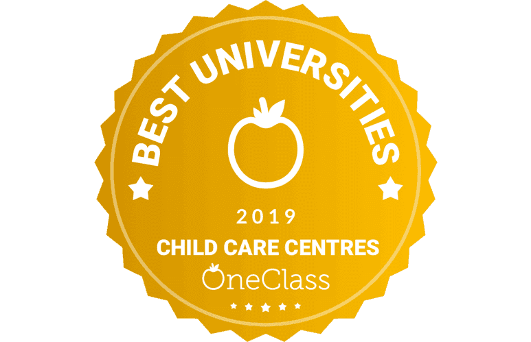 Inaugural Best Universities Child Care Centres of 2019 award presented by OneClass