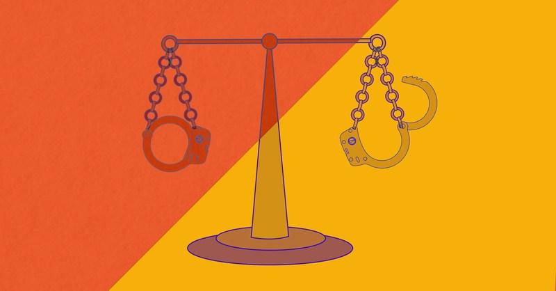 Pictorial representation of Criminal Justice