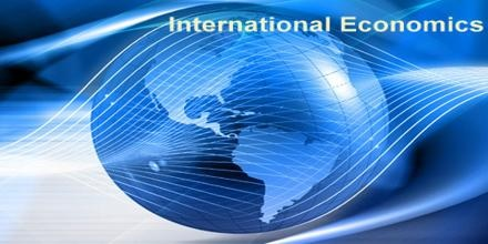 Picture of the globe with the title international economics