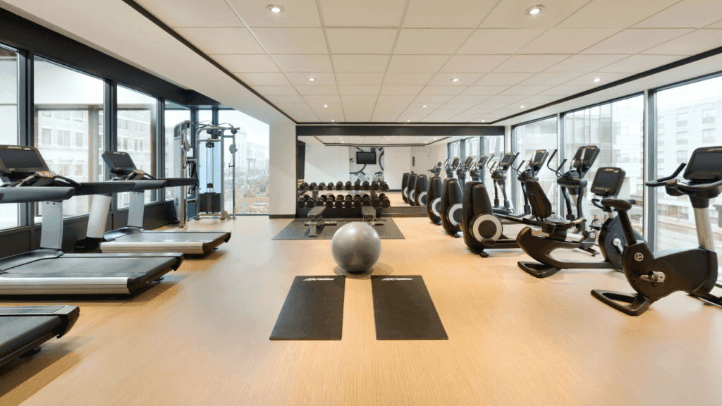 gym with modern facilities