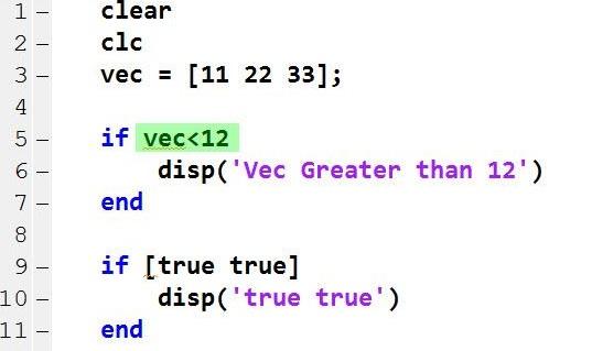 screenshot of programming lines