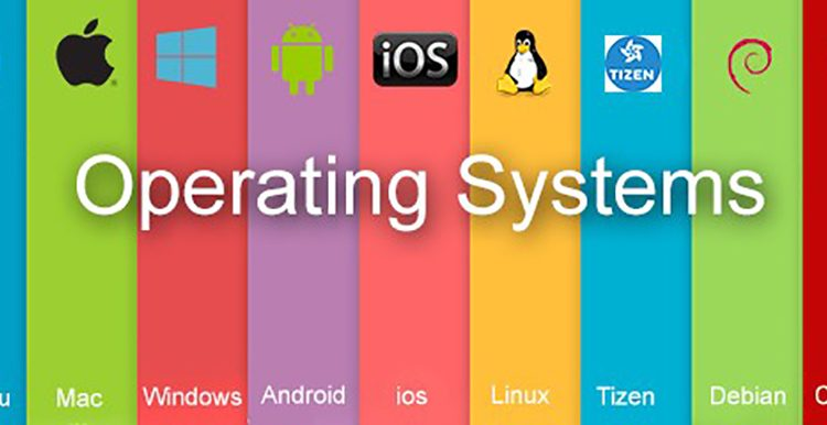 An image of Operating Systems from different companies