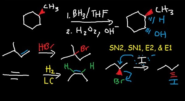 Organic Chemistry equations and reactions