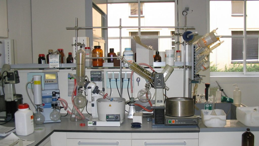 pictures from an organic chemistry laboratory
