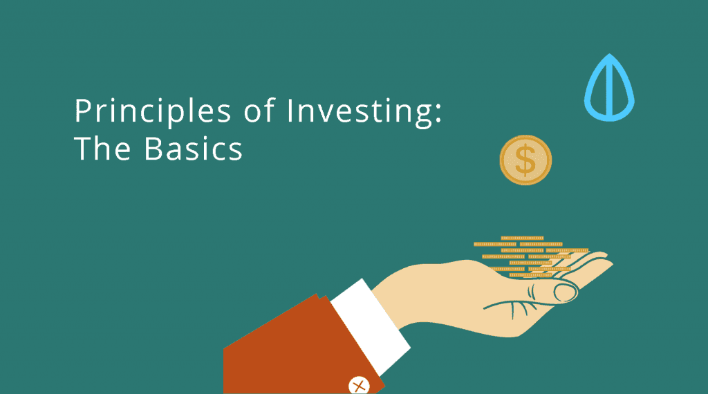 basics in the Principles of Investments represented by hand holding out money