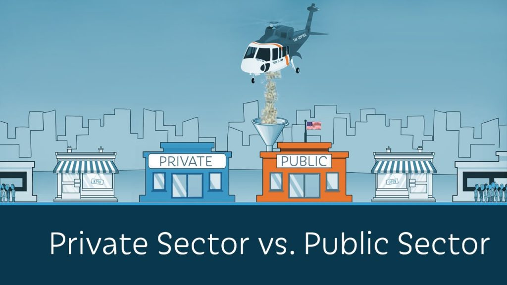 Comparison between public and private sector