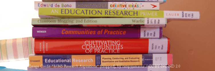 The above image shows some of the educational research books