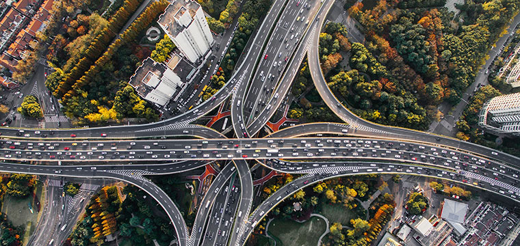 picture of highway from above