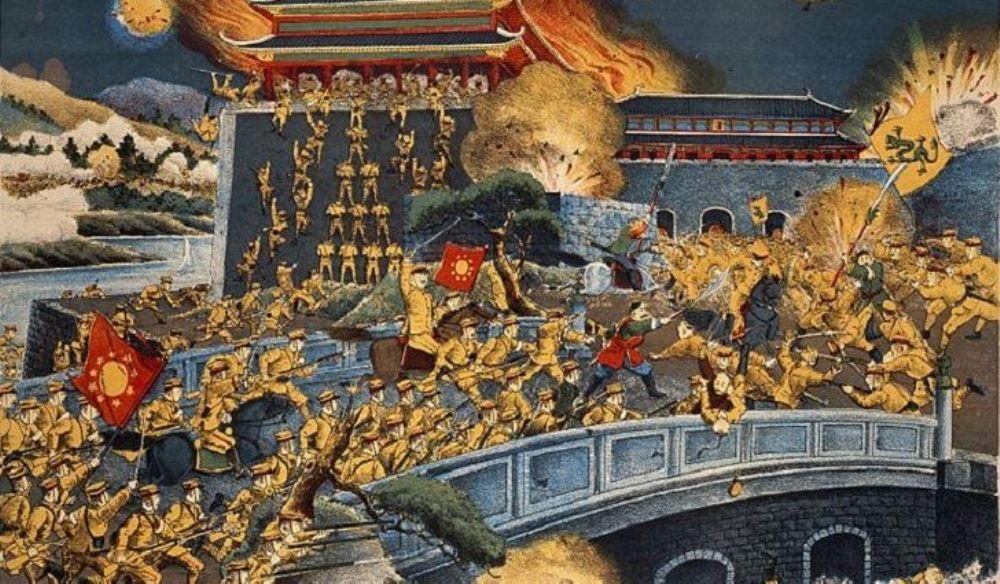 picture representing a historical scene in China