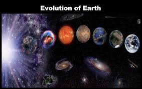 Image showing the evolution of the Earth and the solar system