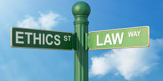 This image shows the intersection between law and ethics.