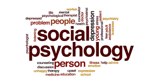 social psychology word cloud with related words