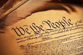 This image of the constitution reminds students what this course is about.