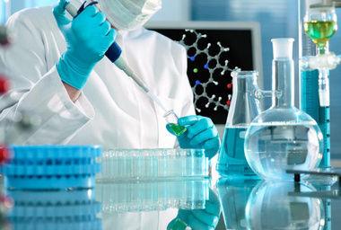 A biologist in a lab