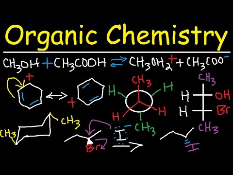 This picture shows a formula for an organic chemistry equation
