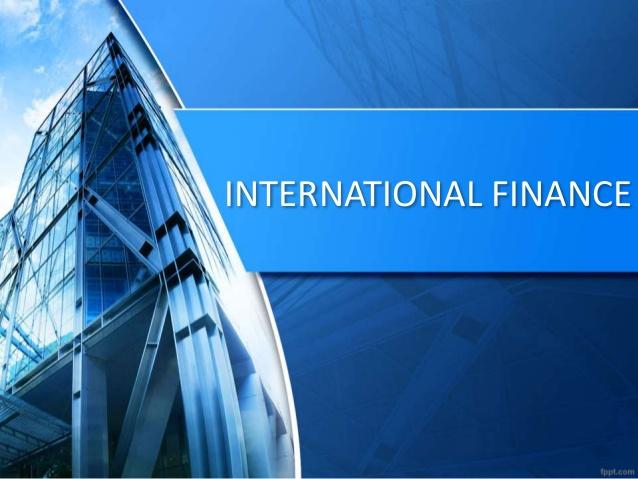 Cover for an international finance slide deck