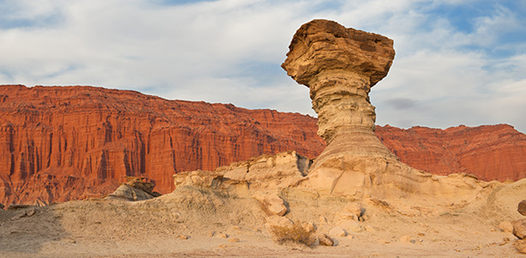 A rock structure formed by tectonic movement of the earth