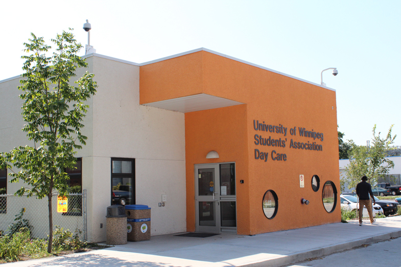 Side view of the UWSA Day Care building