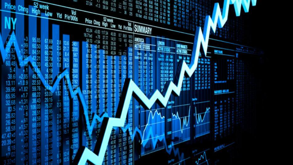 Clip art of a stock market chart.