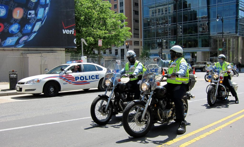 DC police on patrol during the 2010 Nuclear Security Summit.
