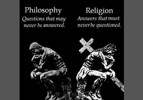 The conflict between religion and philosophy illustrated