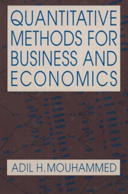 A Quantitative Methods for Business and Economics textbook front cover