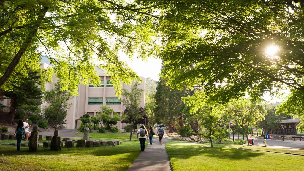 Image of SOU campus in spring.