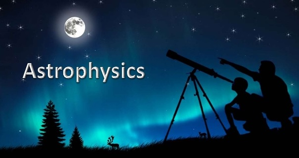 picture of northern lights and two people looking at moon through telescope
