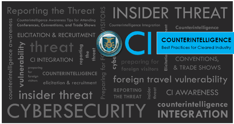 An image of Counter Intelligence word cloud