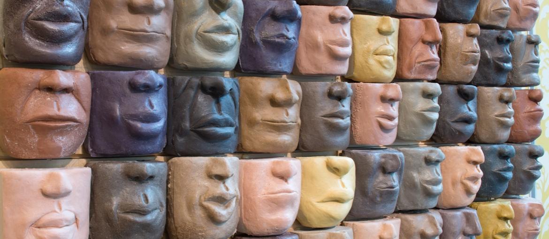Sculpture exhibit at Savannah College of Art and Design.